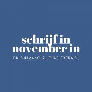 schrijf in november in